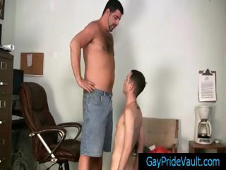 Twink receives rimmed and drilled by bear