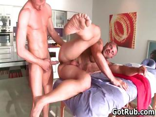 Sexy guy get his excellent body massaged part5