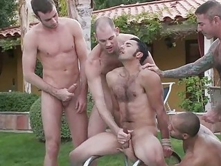 Wonderful looking gay stud got molested and abused at the party
