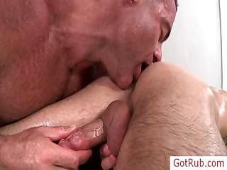 Fellow receives his anus rimmed part4