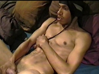 This lascivious homeboy is up for a round of self satisfaction. Watch him...