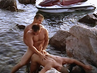 Jet Skiing jocks fuck every other after intensive sporting session...