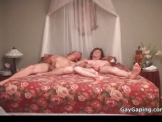 3 homosexuals suck dongs and fuck asses