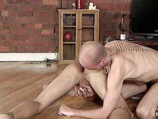 Lucas Davidson gets anally humiliated and piddled in! - Lucas Davidson And Kiron Knight