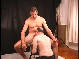 Stud gives a decision to let older fellow suck and rim