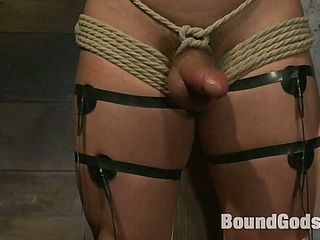 Marc Dylan is bound, beaten and drilled for the 1st time on Fastened God