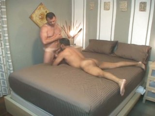 Obscene latin gay dad down for wicked bareback try-out