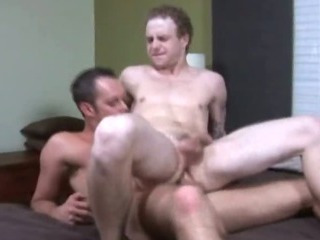 Pale college twink jumping up and down a hard shlong