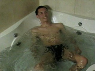 Horny homo guys love getting wet in tub