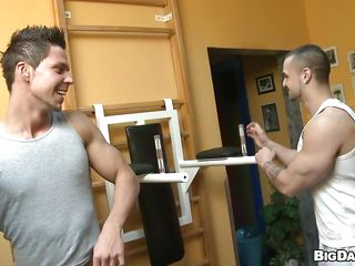 Working out in the gym needs discipline and a ally to help u with those enormous weights. But what happens when your ally helps in a different manner and rises not solely your bar but your cock too. Have a look at those 2 boys, they teach great jointly and fuck in the same way too. How will cum first?