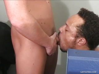 Having computer problems? What about erection problems? Well all that can be solved and this is one of these hard days of work that has it's valuable parts. This white twink comes to assist his coworker and things acquire hot and enormous betwixt them. Zan unzips his panties and starts to engulf his dick, will this guy acquire repaid?