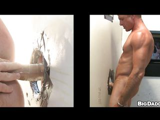 This hawt blonde guy with valuable worked out body was looking for anybody to please his cock. And now see how hard this guy gets, when this guy is having a valuable oral-stimulation from one more horny blonde through gloryhole! Finished with that, pretty soon the muscled starts tearing his ass with condoms.