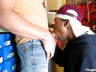 A dark dude is talking with a white guy, then they are going somewhere where they could start having raunchy intercourse. Those 2 love birds start to have fun. The dark dude receives on his knees and begins to give a oral job to the other guy. After that, he begins to ride the white man's hard cock.