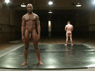 Dark muscled man is wrestling with Dak Ramsey, that guy gives his best and finally defeats him. Now that he's the dominating male it's time to show it and fucks the white guy's a-hole hard then cums on his cock. He enjoys the moment and Dak liked getting his a-hole fucked, will that guy ask for some greater amount semen on his body?