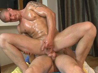 Hawt dude is delighting cute stud with deep anal riding