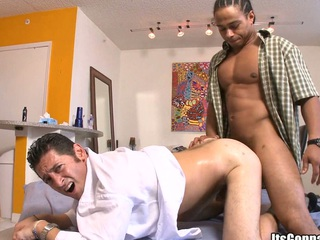 That horny cock will impale his mouth with dirty force, enjoy!