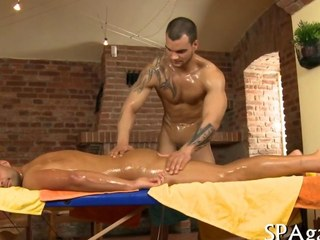 An anal sex massage with muscly men